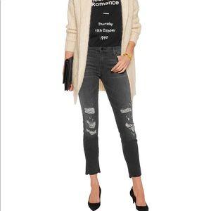J.Brand Black Destroyed Affray Mid Rise Jeans